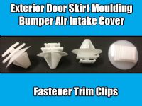 10x Clips For Citroen Fiat Moulding Bumper Air intake Covering White Plastic